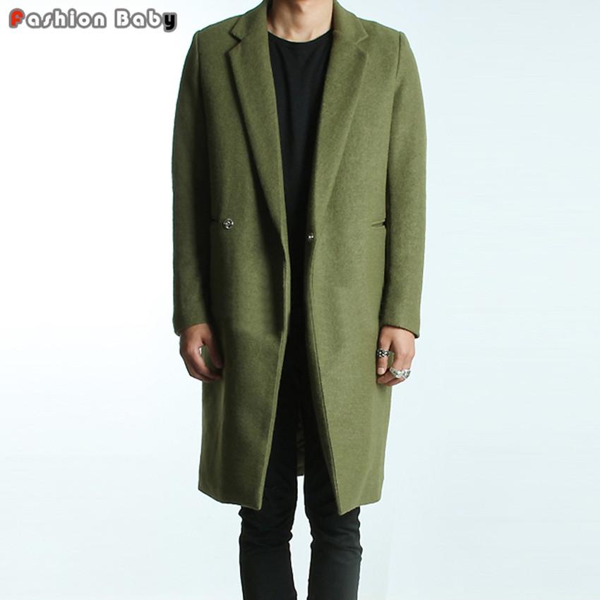 Men-s-Green-Woolen-Trench-Coats-Slim-Fit-Brand-Fashion-British-Style-Windbreaker-Overcoat-Autumn-Winter 3