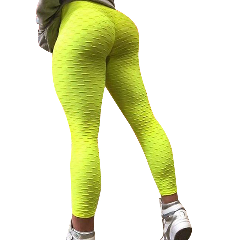 NORMOV Solid High Waist   Leggings   Women Workout Sexy Push Up Breathable Fitness Clothing Stretch Classic Trousers Female 3 Color