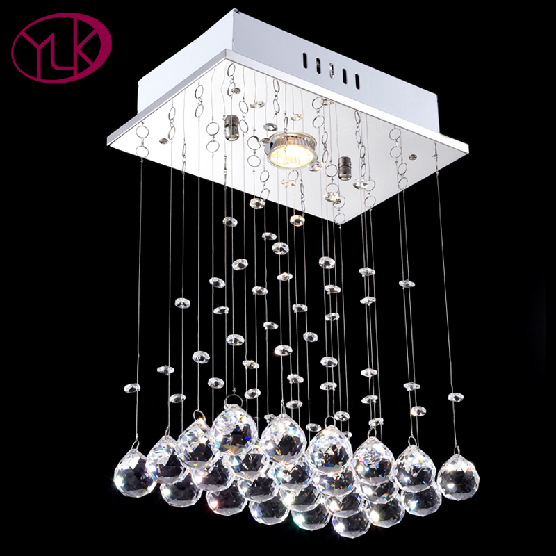 Youlaike Modern LED Crystal Chandelier Lighting For Dining Room Cristal Lustre Chandeliers European style lights L30xW20xH40cm modern led crystal chandelier lights living room bedroom lamps cristal lustre chandeliers lighting pendant hanging wpl222