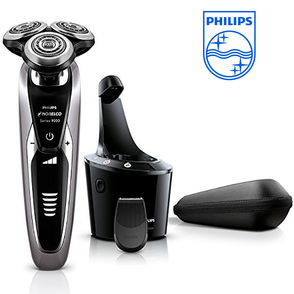 Philips Norelco S9311/87 Shaver 9300 Wet & dry Electric Shaver with SmartClean System Travel Lock Support Fully Washable