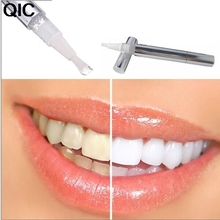 QIC Silver White Teeth Whitening Pen Tooth Gel Whitener Bleach Remove Stains Oral Hygiene 1PC