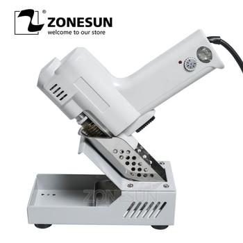 ZONESUN Electric Absorb Gun S-993A Electric Vacuum Desoldering Pump Solder Sucker Gun 220V 100W De-solder Gun