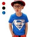 Venta Caliente al por menor Nuevos Cabritos Muchachos Superman Camiseta de Manga Corta de Verano de Los Niños Ropa de La Camiseta Niños Tops 100% Algodón