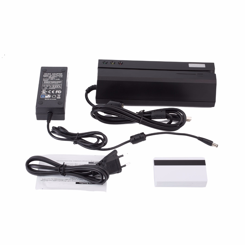 Magnetic Card Reader Msr100 Stripe 3 Tracks Rs232 Interface Plug Universal For Swipe Bar Code Data In Readers From Computer Office On