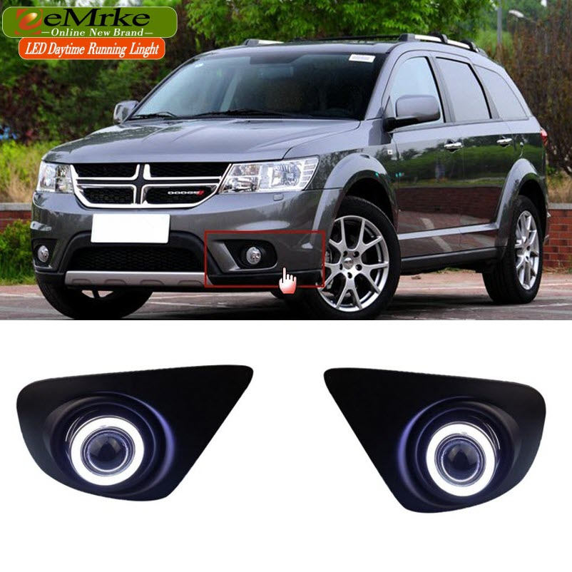 eeMrke Car Styling For Dodge Journey JC 2013 LED DRL Angel Eyes Fog Lights Daytime Running Lights Halogen Bulbs H11 55W for lexus rx350 rx450h 2010 2013 car styling led angel eyes drl led fog lights car daytime running light fog lamp with bulbs set