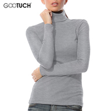 Winter Womens High Collar T Shirt Fashion Long Sleeve Turtleneck Top Tees Keep Warm Shirt 5XL 6XL Womens Plus Size T Shirts 7095