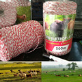 500 Meters Electric Fence Poly Wire Red White Polywire with Steel Wire Poly Rope For Horse Fencing Ultra Low Resistance Hot Wire