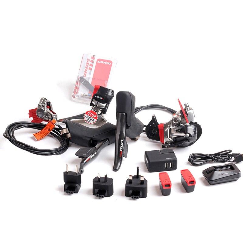 SRAM красный eTap беспроводной электронный комплект 2 x S 11 s скорость гидравлический диск комплект тормозного оборудования велосипеда