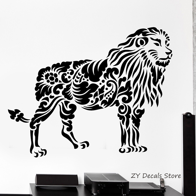 Lion Wall Decals Africa Animal Wall Stickers Tribal Lion King Home Decor  Bedroom Decoration Wall Art Vinilos Paredes Mural L316 In Wall Stickers  From Home ...