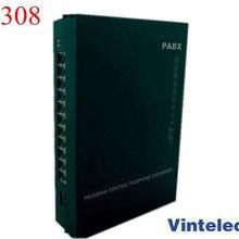 Горячая VinTelecom SV308 3CO+ 8Ext АТС/телефонный обменник/телефонная система/Мини АТС/телефонная система SOHO АТС/Малый АТС-продвижение