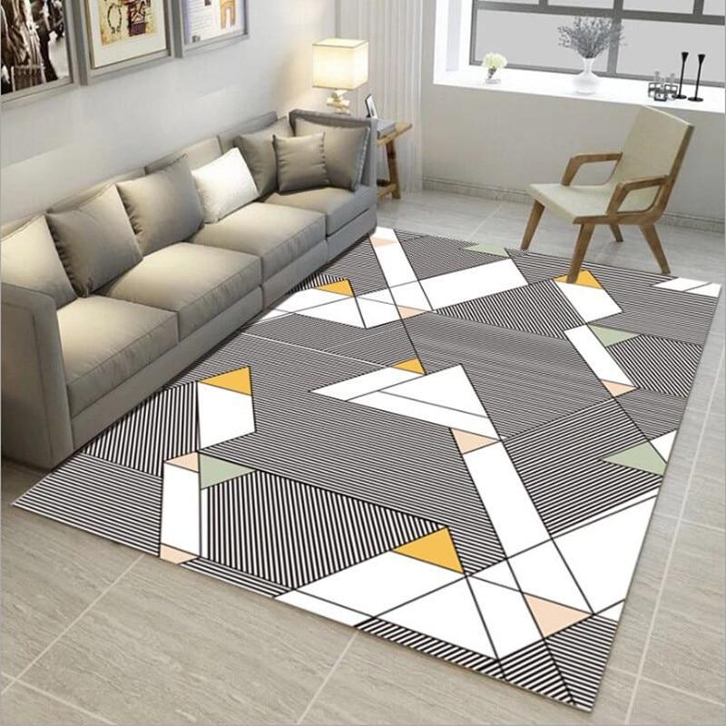 Modern Carpets For Living Room Geometric Large Area Rugs Kids Anti Slip Safety Rug