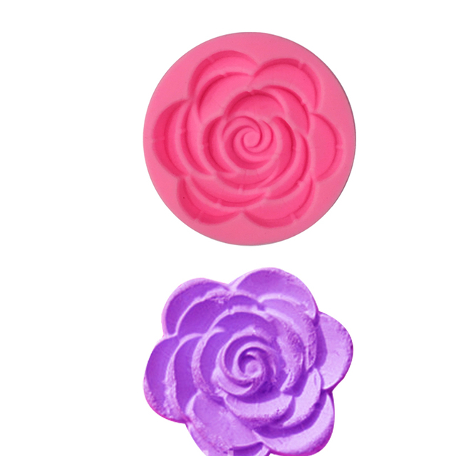 Blooming rose stampi in silicone pizzo torta di compleanno stampo ...