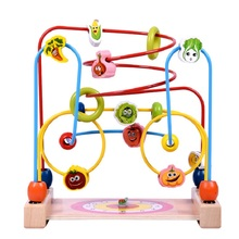 Funny Game For Children Bead Intelligence Toys Wooden Baby Learning With Clock Kids Toys