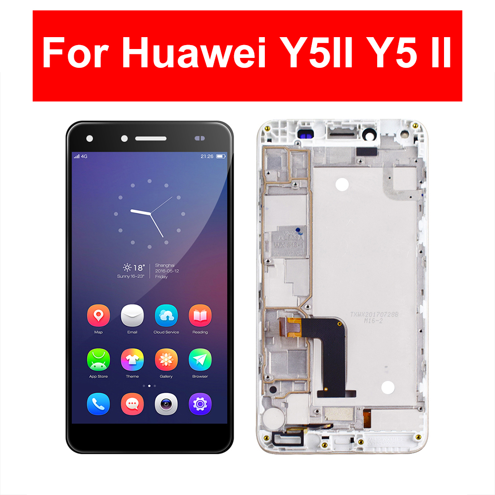 LCD For Huawei Y5II Y5 II Y5-2 CUN-U29 CUN L23 L03 L33 L21 L01 LCD Display Touch Screen Glass Assembly Frame For Huawei Y5II LCDLCD For Huawei Y5II Y5 II Y5-2 CUN-U29 CUN L23 L03 L33 L21 L01 LCD Display Touch Screen Glass Assembly Frame For Huawei Y5II LCD