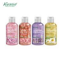 Kustie Christmas Gift Set 100ml Shower Gel And 50 Ml Cherry Blossom Lotion Pack With 4