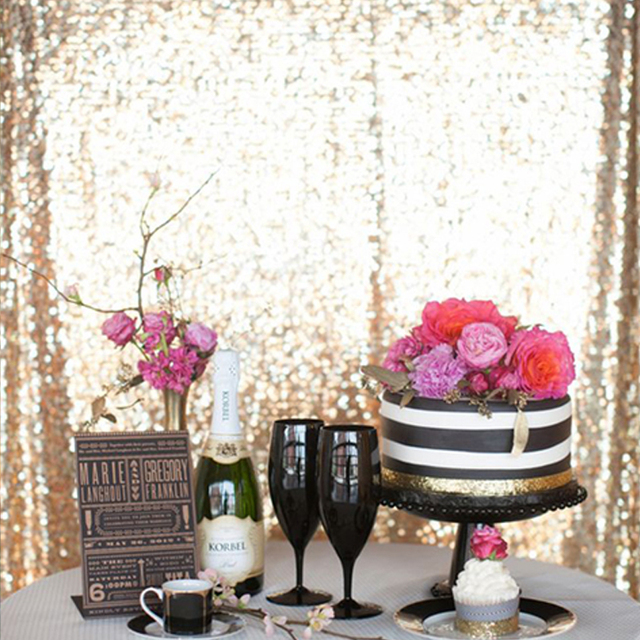 Sequin Fabric Diy For Photography Backdrop Tablecloth Table Runner Overlay Christmas Wedding Decor Clothes Patchwork Material
