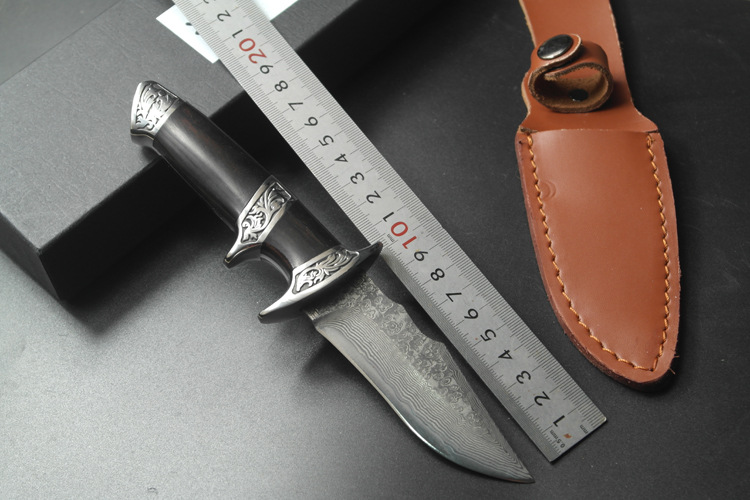 High-grade Damascus knife Basic Damascus steel knife outdoor boutique gift collection straight knife cutting tools 2016 hot high grade damascus knife basic damascus steel knife outdoor boutique gift collection straight knife cutting tools
