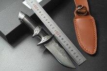 Высококачественный нож Дамаск Основные Дамасская сталь нож открытый бутик подарок коллекция прямой нож режущий инструмент