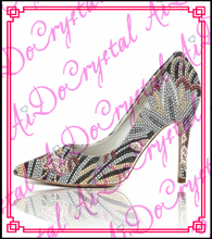 Aidocrystal sexy Shoes Customized High Heel Shoes Pointed Toe Bride Shoes Princess Pumps Elegant Wedding Shoes