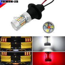 High Power White/Red 3156 T25 Switchback LED Bulbs For Chevy and Ford Mustang Backup Add-On Rear Fog Light Reverse/Tail/Brake