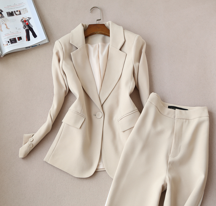 À Aristocratique Manches Pantalon Couleur Large Tempérament Longues Nouveau De 1 Jambe Costume Mode Coréenne Neuf Frappé Version FxwnIqY0
