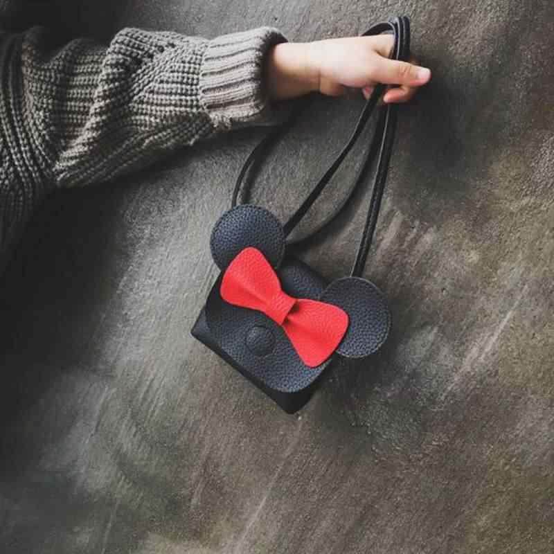 الكرتون القوس أفخم ظهره الاطفال الفتيات محفظة صغيرة صغيرة محفظة نسائية للعملات المعدنية الكتف حقيبة ساعي الأطفال بولي Leather حقيبة يد جلدية