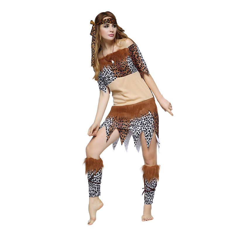 Halloween Ladies Women Native American Indian Wild West Fancy Dress Party Costume indian primitive performance suit