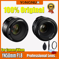 YONGNUO YN50mm Lens F1.8 Large Aperture Auto Focus YONGNUO DSLR Camera Lens For canon For Nikon D800 D300 D700 D3200 D3300 D5100