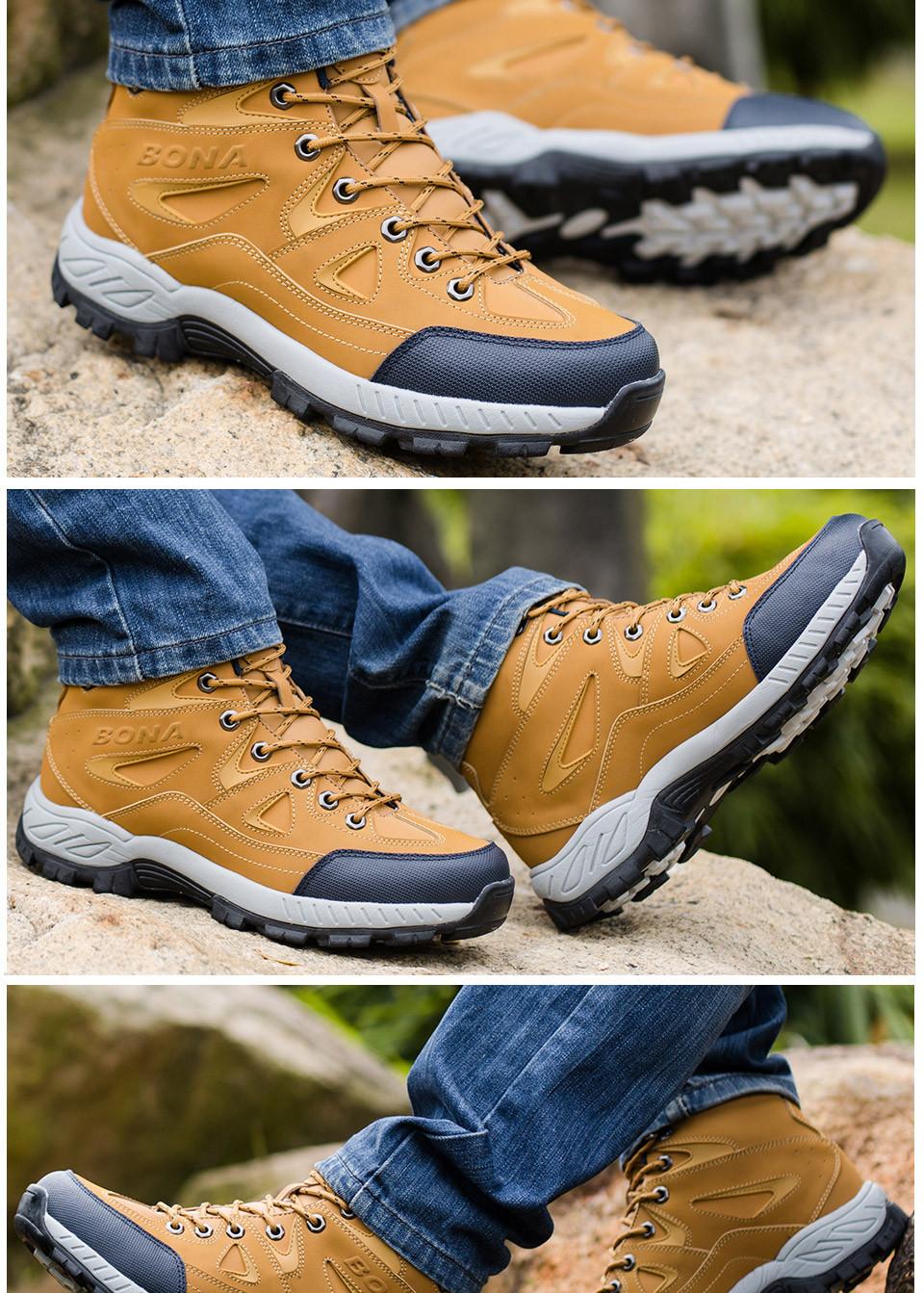 BONA Men Hiking Shoes Anti-Slip 12