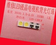 200 יחידות\חבילה עבור תיקון פיליפס מגניב Hisense LED LCD טלוויזיה תאורה אחורית מאמר מנורת SMD נוריות 3535 3 v קר לבן אור דיודה