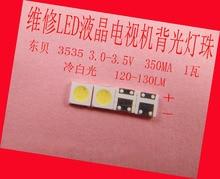 200 adet/grup onarım Philips Serin Hisense LED LCD TV arkaplan ışığı Makale lamba SMD LED 3535 3 V Soğuk beyaz ışık yayan diyot