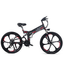 26inch electric mountain bicycle 48V400W high speed motor Lightweight frame hidden lithium battery electric ebike(China)