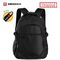 Swisswin Brand Backpack Male Orthopedic School Backpack Swiss 13 3 14 15 Laptop Backpack Women Mochila
