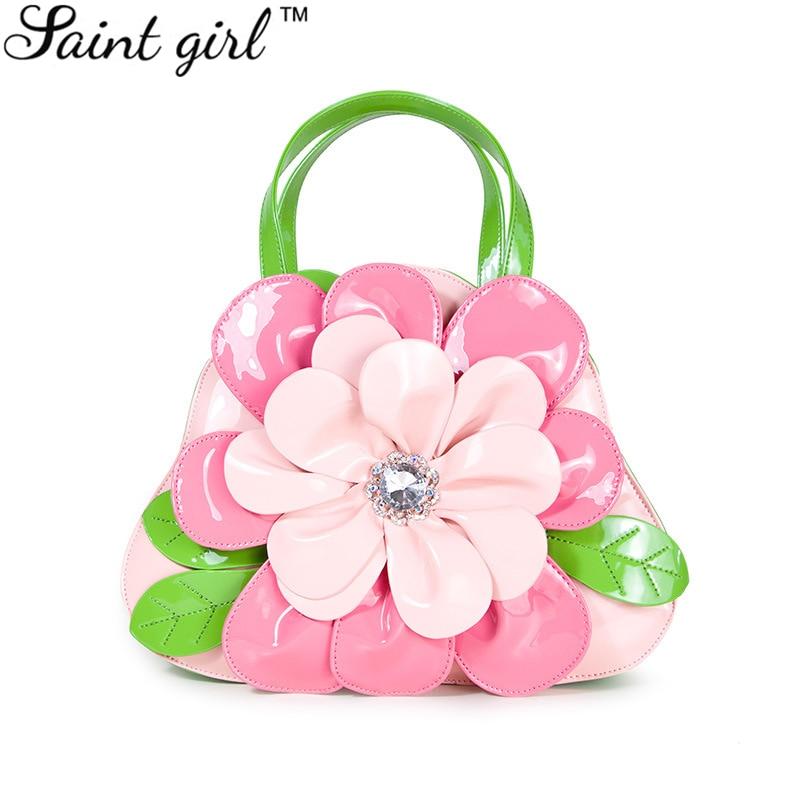 Saint Girl Women S Flower Handbags Bag Ladies Pu Leather Shoulder