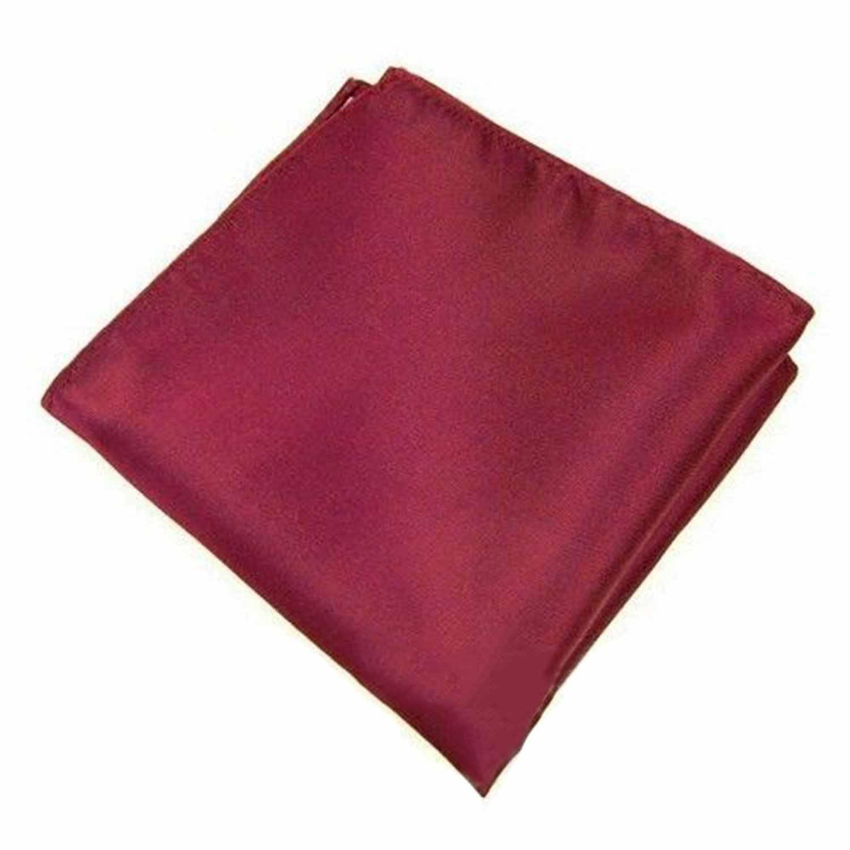 Мужской Карманный платок простой цвет Свадебная вечеринка квадратный платок (темно-красный)