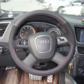 Car- Styling New Anti Slip Swede Leather Steering Wheel Stitch on Wrap Cover For Audi A4L/A6L/Q5