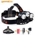 8000Lumen UV Red Laster+XM-L T6+2XPE LED Headlamp Headlight Fishing Hunting Head Light Lamp lampe frontale