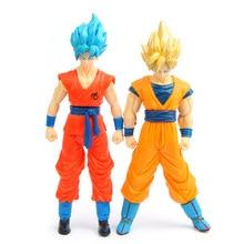 2pcs anime brinquedos Super Saiyan Son Goku Gohan figure Dragon Ball Z Figurine PVC Action Figures Toys B496