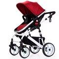 Alta Qualidade Carrinho De Bebe Carrinho de Bebê Carrinhos De Alta Vista Dobradura Convertible direção de Viagem Do Bebê Carrinho De Criança Frete Grátis