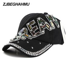 2017 New  fashion hat caps sunshading men and women's baseball cap rhinestone hat denim and cotton snapback cap цены