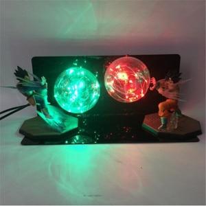 Image 4 - Dragon Ball Figure AC 110V/220V LED Table Lamp Optional Lighting Color Replaceable Light Bulb Cartoon Model Night Light