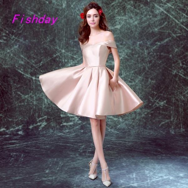 Curto Simples Formal Rosa Lace Querida vestido de Baile 8ª série champanhe Adolescente Juniores do Regresso A Casa Vestido de 2017 para a Venda de 30 Anos A40