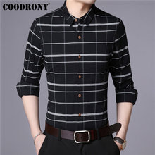 COODRONY Men Shirt Fashion Striped Long Sleeve Clothing Autumn New Arrival Casual Shirts Cotton Camisa Masculina 96027
