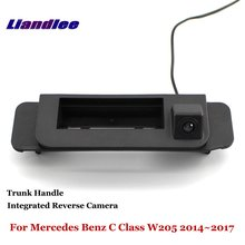 Liandlee For Mercedes Benz C Class W205 2014~2017 Car Reverse Camera Rear View Backup Parking Camera / Integrated Trunk Handle for mercedes benz glk class x204 2013 2015 trunk handle car reverse camera rear view backup parking camera hd ccd night vision