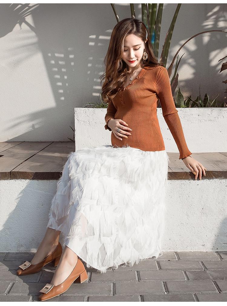 Летнее платье для беременных Одежда с кисточкой для беременных Для женщин повседневные платья для беременных модные Беременность юбка для беременных C771