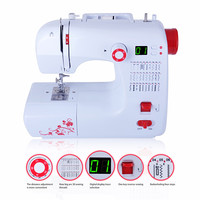 Fanghua 30 Stitches Portable Household Sewing Machine With Domestic Mini Foot Pedal Digital Display Overlock Function
