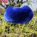 New inverno faux fox fur collar quente irreal regalo de peles falso pele de imitação de pele de coelho malha cachecol mulheres multicolors ring neck warmer