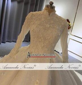 Image 3 - Vestido de noiva abendkleider, vestido de baile para iniciantes, fotos reais, alta qualidade, 2020