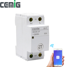 WiFi Intelligent Circuit Breaker Relay Type 2P Din Rail Remote Control By eWeLink APP Smart Home Compatible With Alexa Google