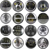 5 3/4 5.75 Inch LED Lights Bulbs H/L Projection Headlight For Harley Sportster XL 883 1200 Dyna